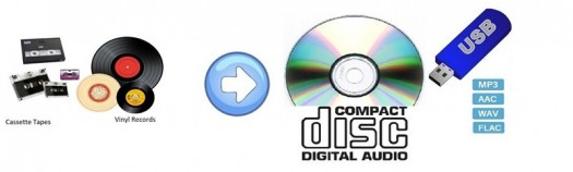 audio tapes and vinyl records to MP3 and CD